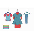 set of trendy women things vector image vector image