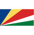 Seychelles flag vector image vector image