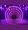 show light podium purple vector image