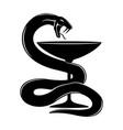 sign of a medical snake vector image