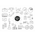 Sketch set of infographic hand drawn elements and vector image