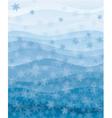 Snowflakes wallpaper vector image vector image