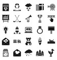 standard icons set simple style vector image vector image
