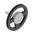 Steering wheel isometric 3d icon vector image