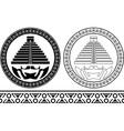 stencils mayan pyramids vector image vector image