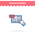 touch screen icon fill and line flat vector image