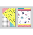 Trendy geometric elements memphis cards vector image