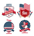 usa independence day cards vector image vector image