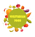 Vegetarian Food Round Vegetables Composition vector image