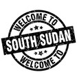 welcome to south sudan black stamp vector image vector image