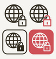 world lockdown icon pandemic effect covid19 vector image
