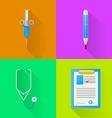 Colored flat icons for hospital vector image