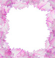 Watercolor floral frame with lotus vector image