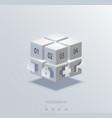 modern cube infographics element design vector image