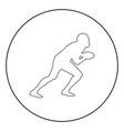 american football player icon black color in vector image vector image