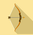 archer bow icon flat style