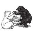bears 5 vintage vector image vector image
