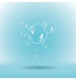 Blue soap bubbles on white background vector image vector image