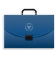 briefcase icon realistic style vector image vector image