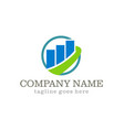 business finance stock company logo vector image vector image