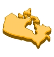 Canada map icon cartoon style vector image vector image