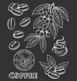 coffee elements set vector image