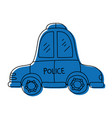 color emergency police car transport with siren vector image vector image