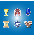 color icons with Jewish symbols vector image