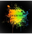 Color paint splashes Gradient background vector image vector image