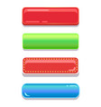 colorful editable navigation buttons set vector image