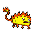 comic cartoon little fire demon vector image vector image