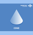 cone icon isometric template for web design vector image