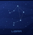 constellation libra astrological sign vector image
