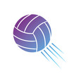contour ball to play volleyball sport vector image
