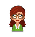 cute beautiful girl with glasses avatar young vector image vector image