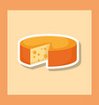 delicious cheese isolated icon vector image vector image