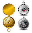 detailed compasses vector image vector image