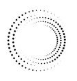 dot circle pattern halftone circular burst vector image