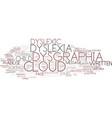 dysgraphia word cloud concept vector image vector image