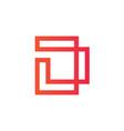 elegant letter d logo design line art vector image
