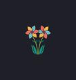 Flower computer symbol vector image
