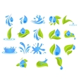 Fresh Water Badges and Stickers vector image vector image