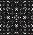 funky seamless pattern ornament with crosses x vector image vector image