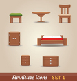 Furniture icons - SET 1 vector image