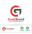 g letter brand logo g letter in a circle with vector image