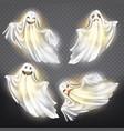 ghosts phantoms set halloween spooky vector image vector image