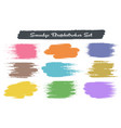 grunge color brush traces vector image