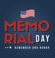 happy memorial day poster card vector image vector image
