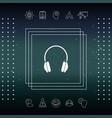 headphones icon symbol vector image