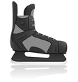hockey skates isolated on whit vector image vector image